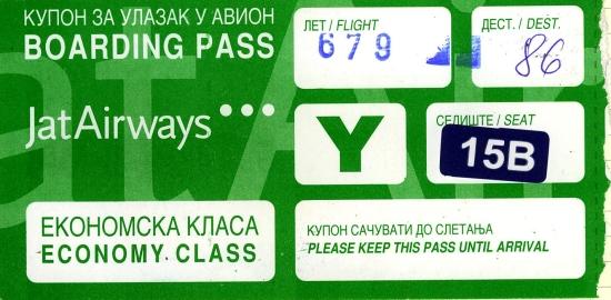 My boarding pass, July 2007