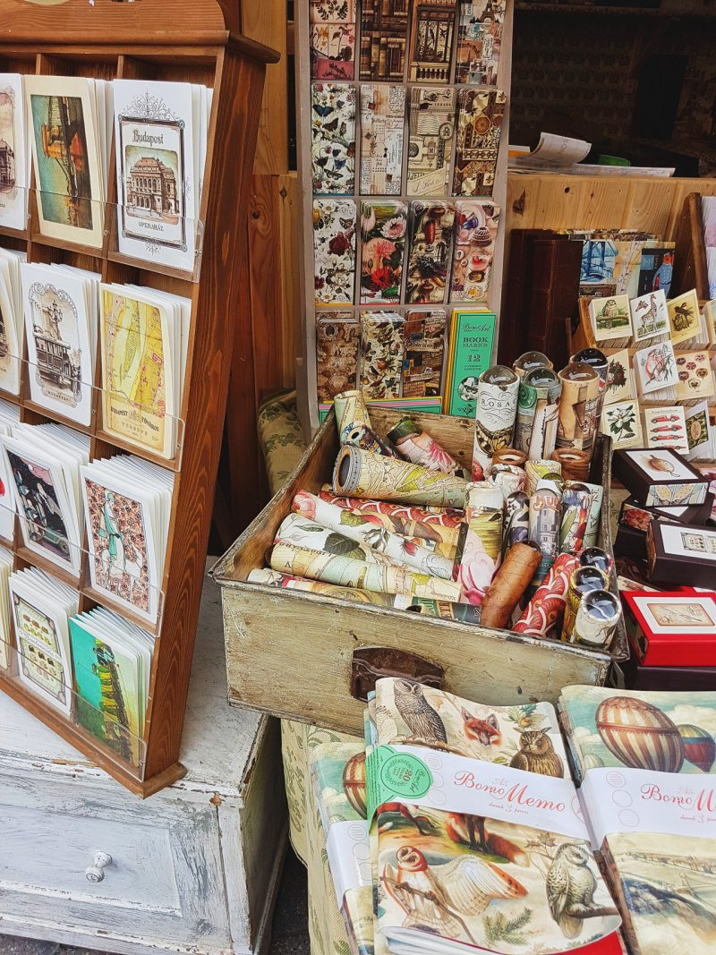 paper goods notebooks and postcards